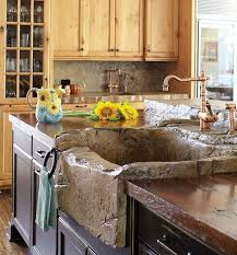keeneh comizio got her stone sink and countertop except that they re made of molded hand carved concrete as are the other countertops