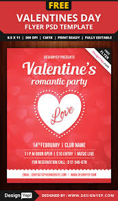 valentines party flyer template psd designyep valentines party flyer template psd