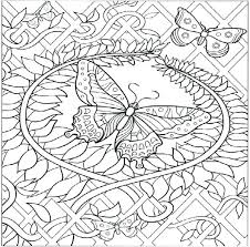 Printable Coloring Pages Of Flowers And Butterflies Menu Free