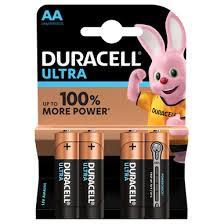 <b>Duracell Ultra AA</b> Batteries, <b>Ultra AA</b>, <b>LR6</b>, MN1500 1.5v Batteries