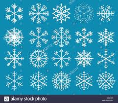 White Stylized Snowflake Designs Stock Vector Art Illustration