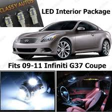 Amazon.com: Classy Autos Infiniti G37 White Interior LED Package ...