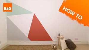 How to paint a geometric <b>triangle</b> feature <b>wall</b> - YouTube