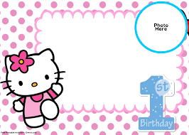Printable Hello Kitty Invitations Personalized Free Hello Kitty 1st Birthday Invitation Template Free
