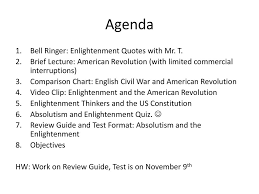 Enlightenment Thinkers Comparison Chart American Revolution Ppt Download