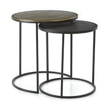 black metal nesting round side tables