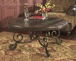 dark wood round coffee table