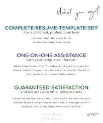 How To Make Resume One Resume New Resume Template Minimalist Resume CV Template Professional Etsy