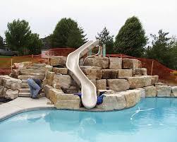 In ground pools with slides Kid Friendly Best Inground Pool Slides Ideas Wilson Turbopower Design Best Inground Pool Slides Ideas Wilson Turbopower Design How To
