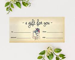 Younique Gift Certificate Template Younique Certificate Etsy