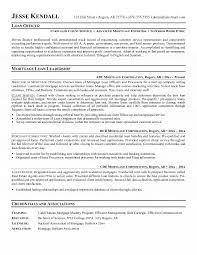 Mortgage Loan Officer Resume