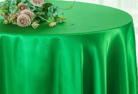 108 round satin table overlay emerald 55638 1pc pk