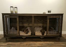 furniture pet crate. The Double Doggie Den™ Indoor Rustic Dog Kennel For Two Pertaining To Large Crate Furniture Pet A