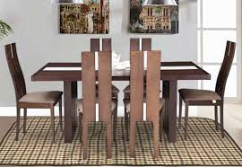 royaloak daffodil american beechwood 6 seater dining set with cushioned chairs