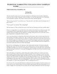 Personal Narrative College Essay Examples Pdf Personal Narrative College Essay Samples Name