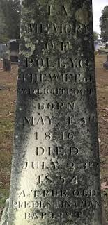 "Mary G ""Polly"" Stephens Lightfoot (1816-1854) - Find A Grave Memorial"