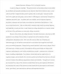 11 Grad School Statement Of Purpose Sample Proposal Bussines