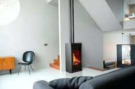 modern free standing gas fireplace direct vent freestanding wood