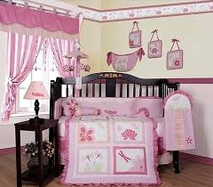 Beautiful Modern Dsigns Baby Girl Ideas For Nursery Bedroom Black Crib Pink  Curtain End Table Night Lamps Wooden Materials Furniture