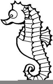 seahorse clipart black and white. Download This Image As On Seahorse Clipart Black And White