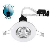 white gu10 recessed ceiling spot light lights downlighters downlight fittings