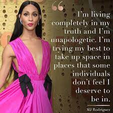 MJ Rodriguez is an actress and... - The ...