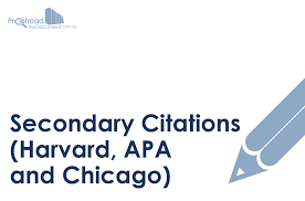 Secondary Citations Harvard Apa And Chicago