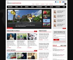 Free Responsive Website Templates Impressive Free News Website Templates Spacerchaser