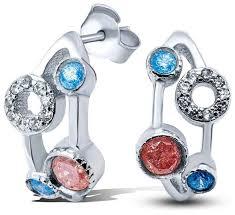 Silver WINGS <b>Серьги с кварцами из</b> серебра 020202mix1-113 ...