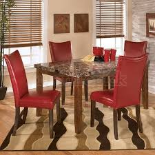 red leather dining room chairs make a photo gallery pic on intended for ideas 18