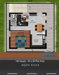 house plan for south facing plot with two bedrooms new 94 30 x 30 sq ft
