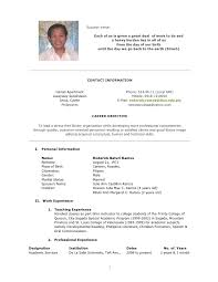 Format Resume Philippines Filename Reinadela Selva