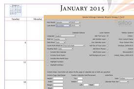 Calendar Wizard 2015 Reka Layout Kalendar Dengan Mudah Sifoodotcom