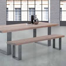 dining table with bench solid wood. modena solid wood \u0026 metal dining bench table with o