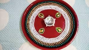 Pooja Ki Thali Design Pooja Thali Designs Aarti Thali Designs Diy Never Before