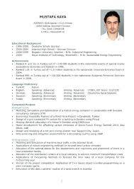 English Curriculum Vitae Template Examples Writing A Curriculum Vitae Templates Cv