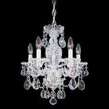schonbek 2999 sterling crystal 5 light up lighting chandelier