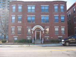 Brick Apartment Building Entrance