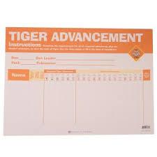 Tiger Advancement Chart Tiger Cub Scout Advancement Chart