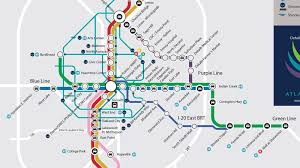 marta station map  marta train station map (united states of america)