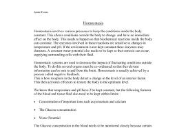 essay homeostasis essay