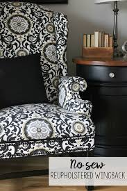 no sew reupholstered wingback chair how i turned a free but ugly chair into