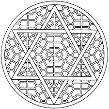 Small Picture Kaleidoscope coloring pages star of david ColoringStar
