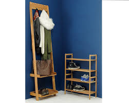 Coat Stand And Shoe Rack Leaning Clothes Organiser Shoe rack Stackable shoe rack and Coat pegs 33