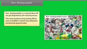 Non Biodegradable