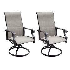 backyard creations parker swivel rocker dining patio chair 2 pack
