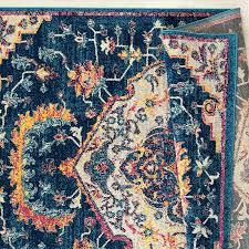 bohemian navy blue rug 8 x 11