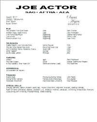 How To Write An Acting Resume Special Skills Examples Example Cv