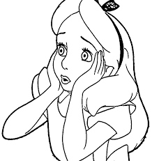 Small Picture Alice In The Wonderland Coloring Pages Wecoloringpage