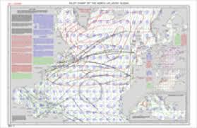 North Atlantic Ocean Pilot Chart For November 2002